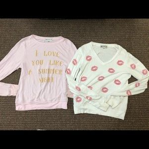 2 wildfox sweaters